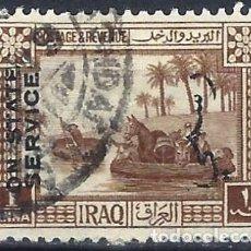 Sellos: IRAQ 1924 - SELLO OFICIAL, MOTIVOS LOCALES, GUFFAS SOBRE EL TIGRIS, SOBREIMPRESO - USADO. Lote 270243788