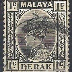Francobolli: MALASIA / PERAK 1935-37 - SULTÁN ISKANDAR - USADO. Lote 270356813