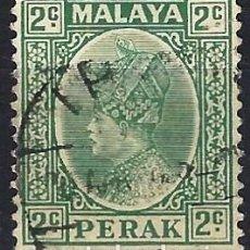 Francobolli: MALASIA / PERAK 1935-37 - SULTÁN ISKANDAR - USADO. Lote 270356858