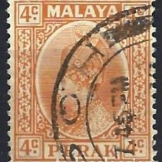 Francobolli: MALASIA / PERAK 1935-37 - SULTÁN ISKANDAR - USADO. Lote 270356938