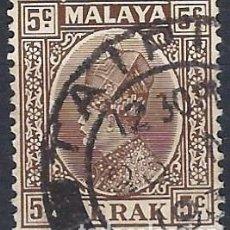 Francobolli: MALASIA / PERAK 1935-37 - SULTÁN ISKANDAR - USADO. Lote 270357023