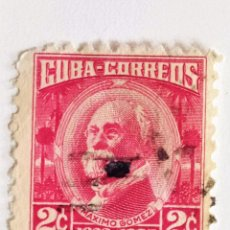Sellos: SELLO DE CUBA 2 C - 1954 - MAXIMO GOMEZ - USADO SIN SEÑAL DE FIJASELLOS. Lote 270883478