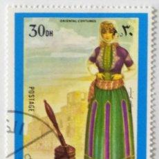 Sellos: SELLO DE FUJEIRA 30 DH - 1972 - TRAJES FEMENINOS ORIENTALES - USADO SIN SEÑAL DE FIJASELLOS. Lote 271564558