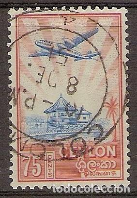 CEILÁN 1950 - YVERT 284 USADO (Sellos - Extranjero - Asia - Otros paises)