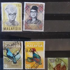 Sellos: LOTE 7 SELLOS MALASIA MALAYSIA (MATASELLADOS). Lote 278954883