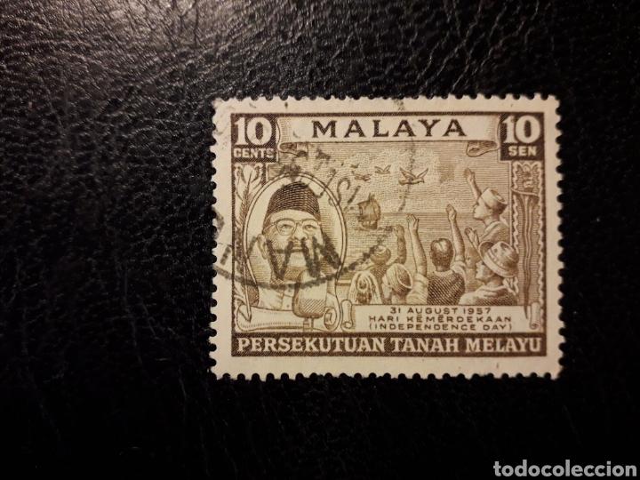 MALASIA, FEDERACIÓN. YVERT 84 SERIE COMPLETA USADA 1957 PRÍNCIPE PRESIDENTE PEDIDO MÍNIMO 3€ (Sellos - Extranjero - Asia - Otros paises)