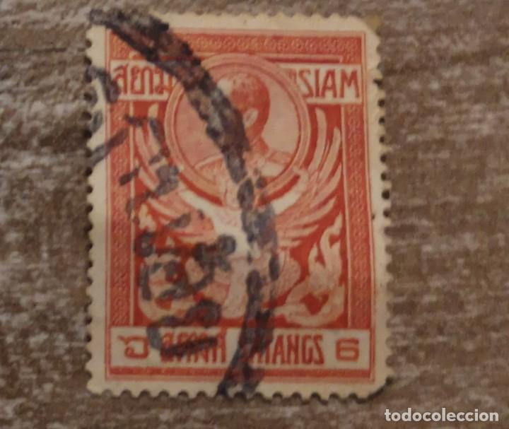 SELLO USADO SIAM 1910 (Sellos - Extranjero - Asia - Otros paises)