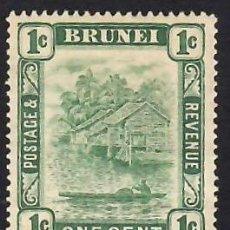 Selos: BRUNEI (1908), CANOA Y PESCADOR. YVERT Nº 24. NUEVO** CON FIJASELLOS, GOMA OSCURECIDA POR EL TIEMPO.. Lote 288173528