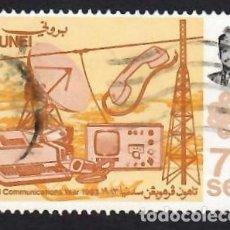 Selos: BRUNEI (1983). AÑO MUNDIAL DE LAS COMUNICACIONES. YVERT Nº 297. USADO.. Lote 288177478