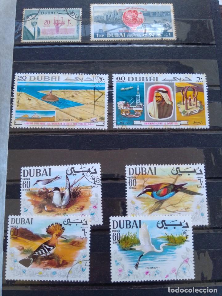 LOTE 9 SELLOS DUBAI (Sellos - Extranjero - Asia - Otros paises)