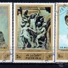 Sellos: FUJEIRA 1972, SERIE AEREA : ESCULTURAS *.MH (30-04). Lote 288514533