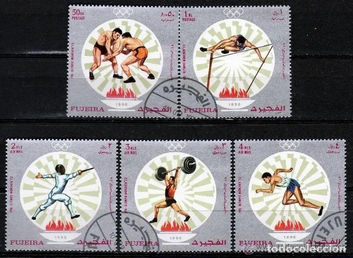 FUJEIRA 1971 2 SERIES :NORMAL Y AEREA , JJOO. MUNICH 71 *.MH (30-07) (Sellos - Extranjero - Asia - Otros paises)