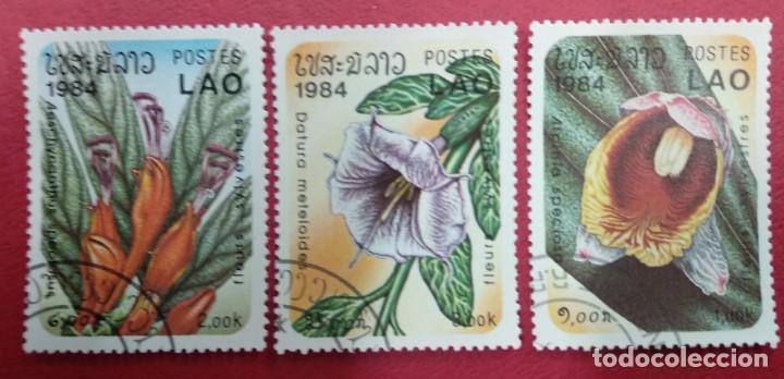 LAOS 1984. TEMATICA FLORA. (Sellos - Extranjero - Asia - Otros paises)