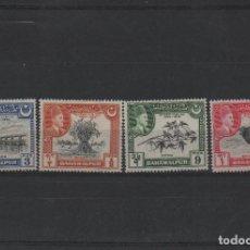 Sellos: SERIE COMPLETA NUEVA CON CHARNELA DE BAHAWALPUR DE 1949. Lote 294013933