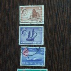 Sellos: LOTE 4 SELLOS SINGAPUR MALAYA, COLONIA BRITÁNICA. Lote 294093203