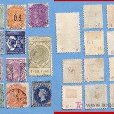 Sellos: ZX SOUTH AUSTRALIA CIRCA 1870 - 90`S REINA VICTORIA ST-23 LOTE DE 14 SELLOS COLONIALES . Lote 24182707
