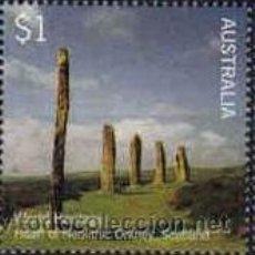 Francobolli: AUSTRALIA 2005 - WORLD HERITAGE - NEOLITICO - DE 1 $. Lote 23892092