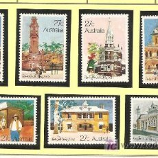Sellos: AUSTRALIA YVERT 781/87. NUEVOS. ARQUITECTURA. Lote 16803487