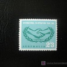 Sellos: AUSTRALIA 1965 IVERT 318 *** 20 ANIVERSARIO DE NACIONES UNIDAS. Lote 25317654