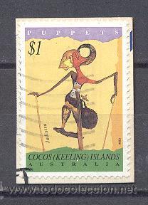 COCOS (KEELIN) ISLANDS- AUSTRALIA, AÑO 1964- USADO-MARIONETA (Sellos - Extranjero - Oceanía - Australia)