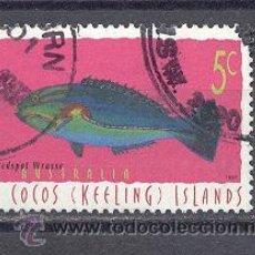 Sellos: COCOS (KEELIN) ISLANDS- AUSTRALIA, AÑO 1964- USADO- SIN CHARNELA. Lote 21896622