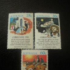 Sellos: AUSTRALIA 1981 IVERT 753 Y 756/7 *** NAVIDAD. Lote 23925911