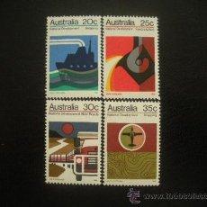 Sellos: AUSTRALIA 1973 IVERT 491/4 *** DESARROLLO INDUSTRIA NACIONAL. Lote 25317672