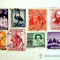 Sellos: 8 SELLOS AUSTRALIA AÑOS 50. Lote 26629797