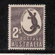 Sellos: AUSTRALIA 229 SIN CHARNELA, FAUNA, COCODRILO . Lote 26670471
