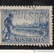Sellos: AUSTRALIA 95 USADA, CENTENARIO DE LA COLONIA DE VICTORIA. Lote 26670754