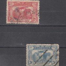Sellos: AUSTRALIA 75/6 USADA, AVION, VUELO TRANSOCEANICO DE SIR CHARLES KINGSFORD SMITH . Lote 26670836