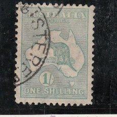 Sellos: AUSTRALIA 10AA USADA, FAUNA, CANGURO, . Lote 26670959