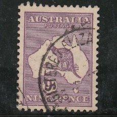 Sellos: AUSTRALIA 9AA USADA, FAUNA, CANGURO, . Lote 26670989