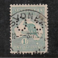 Sellos: AUSTRALIA SERVICIO 10B USADA, PERFORADO, . Lote 26658514
