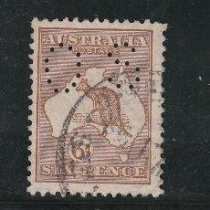 Sellos: AUSTRALIA SERVICIO 8B USADA, PERFORADO, . Lote 26658530