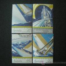 Sellos: AUSTRALIA 1987 IVERT 986/9 *** DEPORTES - COPA AMERICA DE VELA - BARCOS. Lote 27052968