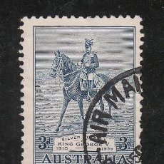 Sellos: AUSTRALIA 103 USADA, ANIVERSARIO DEL REY JORGE V . Lote 26670724