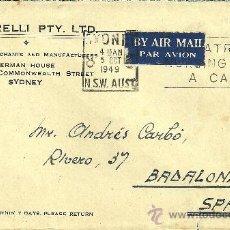 Sellos: SOBRE CIRCULADO CON SELLO AUSTRALIA Y MATASELLOS DE SYDNEY - 1949. Lote 27181513
