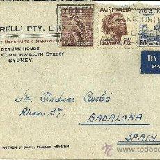 Sellos: SOBRE CIRCULADO CON 3 SELLOS DE AUSTRALIA - 1950. Lote 27181544