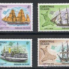 Sellos: ISLAS CHRISTMAS AÑO 1972 YV 231/34* BARCOS VELEROS Y DE VAPOR - TRANSPORTES. Lote 30186680