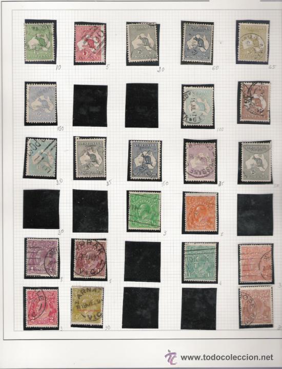GRAN COLECCION DE AUSTRALIA MATASELLADA MONTADA EN ALBUM CON FILOESTUCHES 1912/1996 (Sellos - Extranjero - Oceanía - Australia)