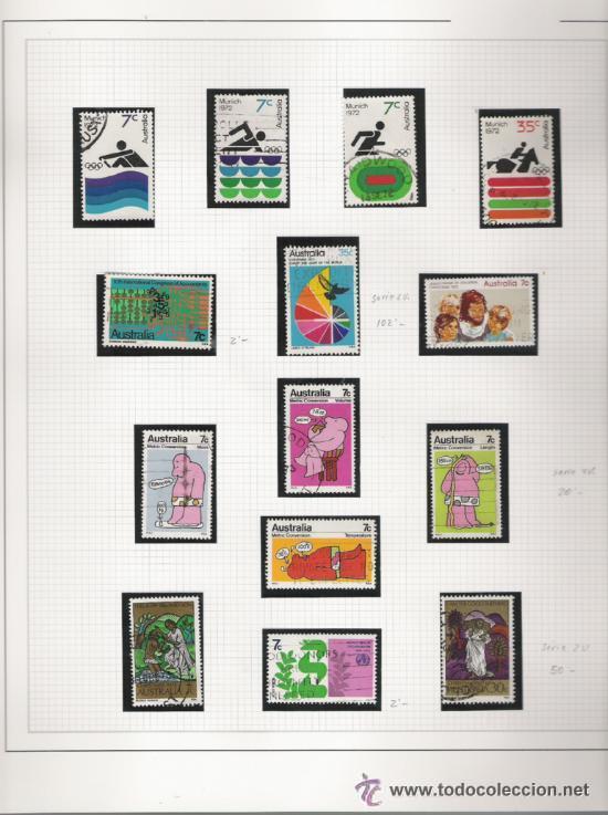 Sellos: GRAN COLECCION DE AUSTRALIA MATASELLADA MONTADA EN ALBUM CON FILOESTUCHES 1912/1996 - Foto 2 - 30270852