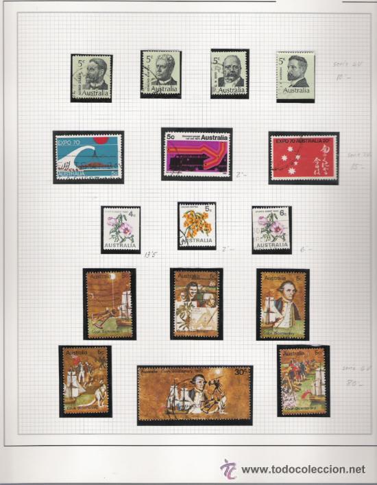Sellos: GRAN COLECCION DE AUSTRALIA MATASELLADA MONTADA EN ALBUM CON FILOESTUCHES 1912/1996 - Foto 4 - 30270852