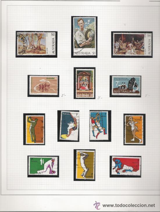 Sellos: GRAN COLECCION DE AUSTRALIA MATASELLADA MONTADA EN ALBUM CON FILOESTUCHES 1912/1996 - Foto 5 - 30270852