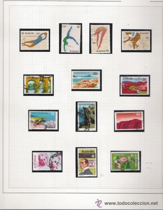Sellos: GRAN COLECCION DE AUSTRALIA MATASELLADA MONTADA EN ALBUM CON FILOESTUCHES 1912/1996 - Foto 6 - 30270852