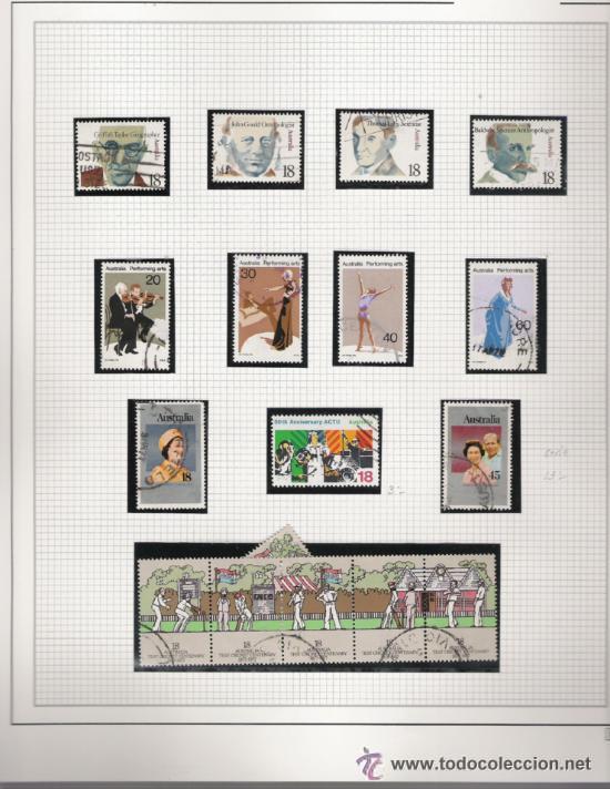 Sellos: GRAN COLECCION DE AUSTRALIA MATASELLADA MONTADA EN ALBUM CON FILOESTUCHES 1912/1996 - Foto 7 - 30270852