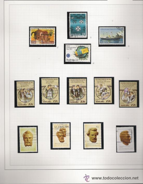 Sellos: GRAN COLECCION DE AUSTRALIA MATASELLADA MONTADA EN ALBUM CON FILOESTUCHES 1912/1996 - Foto 9 - 30270852
