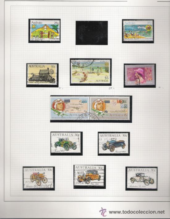 Sellos: GRAN COLECCION DE AUSTRALIA MATASELLADA MONTADA EN ALBUM CON FILOESTUCHES 1912/1996 - Foto 11 - 30270852
