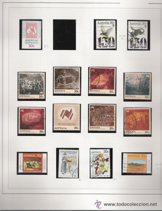 Sellos: GRAN COLECCION DE AUSTRALIA MATASELLADA MONTADA EN ALBUM CON FILOESTUCHES 1912/1996 - Foto 12 - 30270852