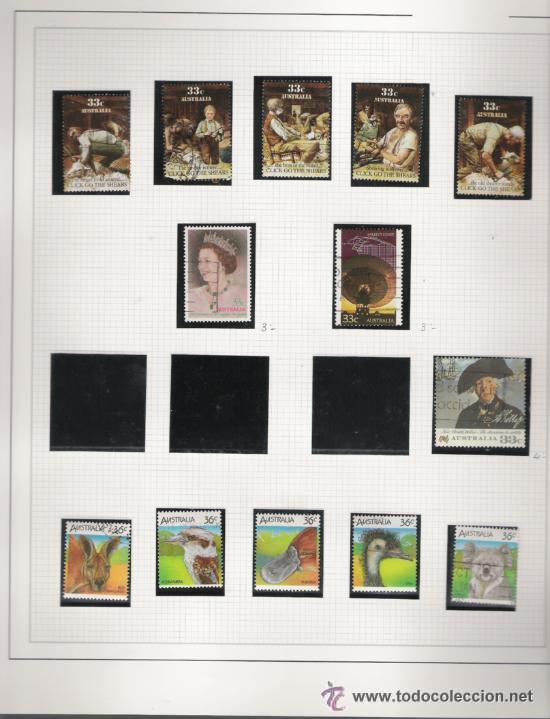 Sellos: GRAN COLECCION DE AUSTRALIA MATASELLADA MONTADA EN ALBUM CON FILOESTUCHES 1912/1996 - Foto 14 - 30270852